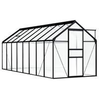 vidaXL Greenhouse Anthracite Aluminium 9.31 m²