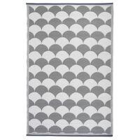 Esschert Design Outdoor Rug 180x121 cm Grey and White OC24