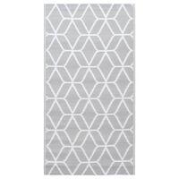 vidaXL Outdoor Carpet Grey 120x180 cm PP