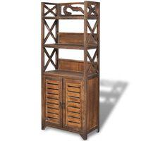 vidaXL Bathroom Cabinet Albuquerque Wood Brown 46x24x117.5 cm