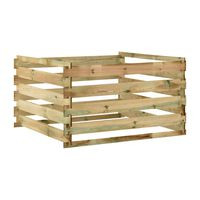vidaXL Slatted Garden Composter 120x120x70 cm Impregnated Pinewood