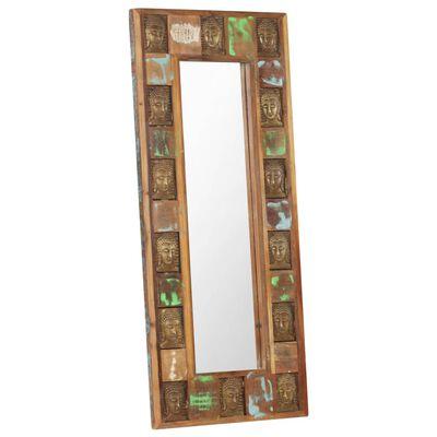 vidaXL Mirror with Buddha Cladding 50x110 cm Solid Reclaimed Wood