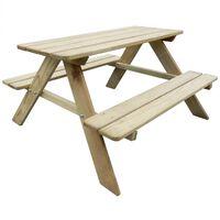 vidaXL Kid's Picnic Table 89 x 89.6 x 50.8 cm Pinewood
