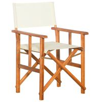vidaXL Director's Chair Solid Acacia Wood