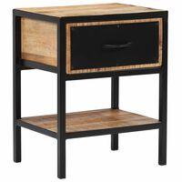 vidaXL Bedside Cabinet Solid Mango Wood 40x30x50 cm
