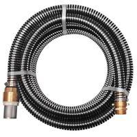 vidaXL Suction Hose with Brass Connectors 7 m 25 mm Black