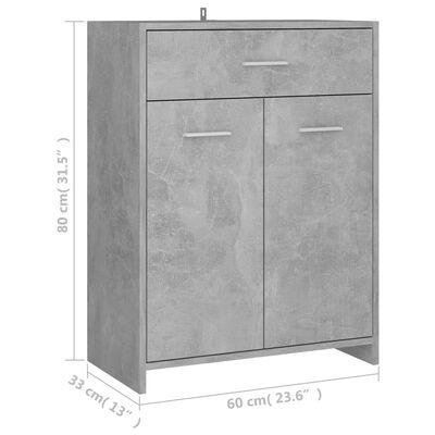 vidaXL Bathroom Cabinet Concrete Grey 60x33x80 cm Chipboard