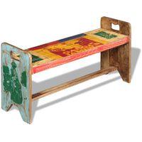vidaXL Cola Bench Solid Reclaimed Wood 100x30x50 cm