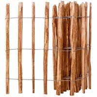 vidaXL Picket Fence Hazel Wood 90x500 cm
