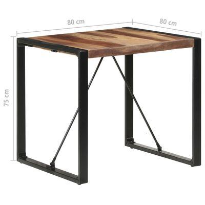 vidaXL Dining Table 80x80x75 cm Solid Wood with Sheesham Finish