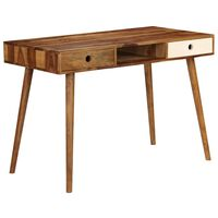 vidaXL Writing Desk 110x55x76 cm Solid Sheesham Wood
