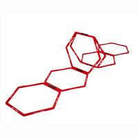 Pure2Improve Hexagon Agility Grid 6 pcs Red