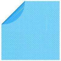 vidaXL Floating Round PE Solar Pool Film 381 cm Blue