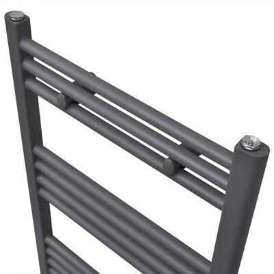 Grey Bathroom Central Heating Towel Rail Radiator Straight 500x764mm