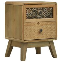 vidaXL Bedside Cabinet Brown 37x30x51 cm Wood