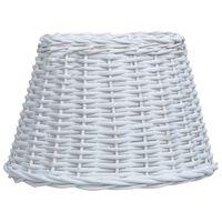 vidaXL Lamp Shade Wicker 45x28 cm White
