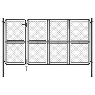 vidaXL Garden Gate Steel 175x350 cm Anthracite
