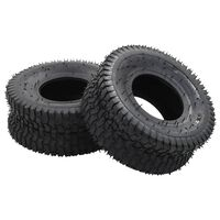 vidaXL Wheelbarrow Tyres 2 pcs 15x6.00-6 4PR Rubber