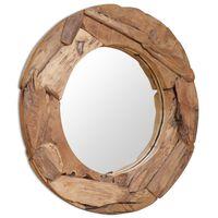 vidaXL Decorative Mirror Teak 80 cm Round