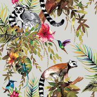 DUTCH WALLCOVERINGS Wallpaper Lemur Silver