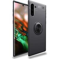 Blaosc Samsung Galaxy Note 10 Le Fáinne Miotail Láimhseála / Tpu Black