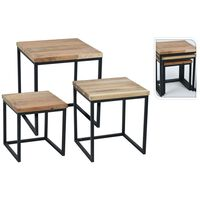 Ambiance Side Table Set 3 pcs Teak