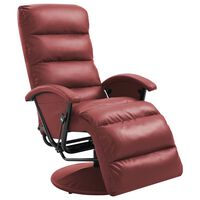vidaXL TV Recliner Wine Red Faux Leather