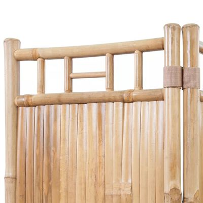 4-Panel Bamboo Room Divider