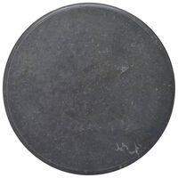 vidaXL Table Top Black Ø70x2.5 cm Marble