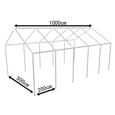 vidaXL Steel Frame for Party Tent 10 x 5 m 60 kg