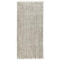 vidaXL Insect Curtain Light and Dark Grey 90x220 cm Chenille