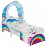 Worlds Apart Toddler Bed with Drawer Unicorn 142x77x128cm