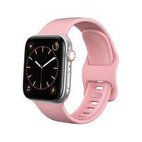 Soft Silicone Apple Watch Strap 1/2/3/4/5 (42) Pink