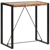 vidaXL Bar Table 110x60x110 cm Solid Reclaimed Wood