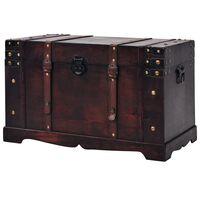 vidaXL Vintage Treasure Chest Wood 66x38x40 cm