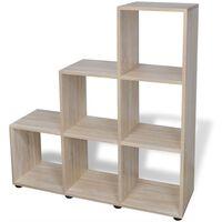 vidaXL Staircase Bookcase/Display Shelf 107 cm Oak