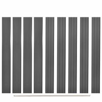 vidaXL Replacement Fence Boards 9 pcs WPC 170 cm Grey