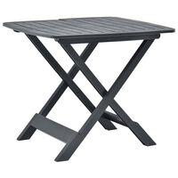 vidaXL Folding Garden Table Anthracite 79x72x70 cm Plastic
