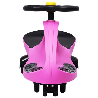 vidaXL Ride on Toy Wiggle Car Swing Car with Horn Pink