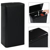 vidaXL Automatic Sensor Dustbin Black Steel 80 L