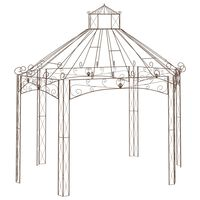 vidaXL Garden Pavilion Antique Brown 400x258x378 cm Iron