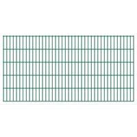 vidaXL 2D Garden Fence Panels 2.008x1.03 m 12 m (Total Length) Green