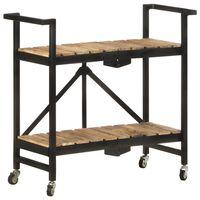 vidaXL Kitchen Trolley 87x36x81 cm Solid Mango Wood