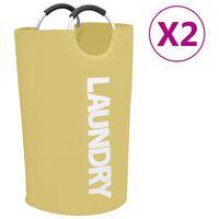 vidaXL Laundry Sorter 2 pcs Cream