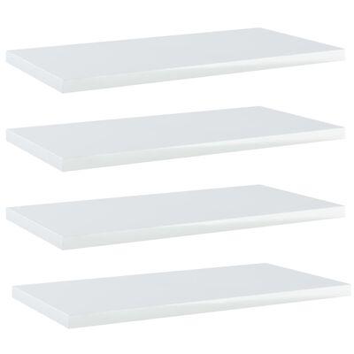 vidaXL Bookshelf Boards 4 pcs High Gloss White 40x20x1.5 cm Chipboard
