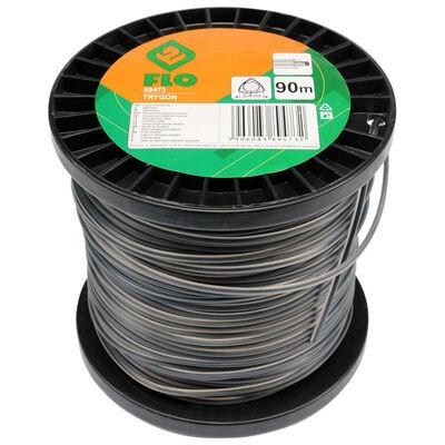 FLO Grass Trimmer Line Trigon 2.4mm 90m Black