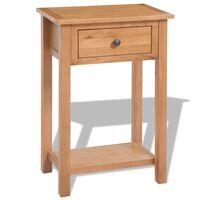 vidaXL Console Table 50x32x75 cm Solid Oak Wood
