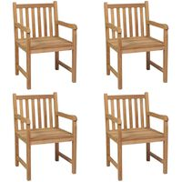 vidaXL Outdoor Chairs 4 pcs Solid Teak Wood