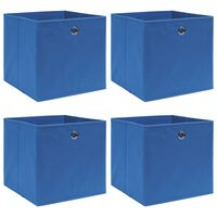 vidaXL Storage Boxes 4 pcs Blue 32x32x32 cm Fabric