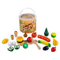 Happy People Play Wooden Fruits and Vegetables Multicolour